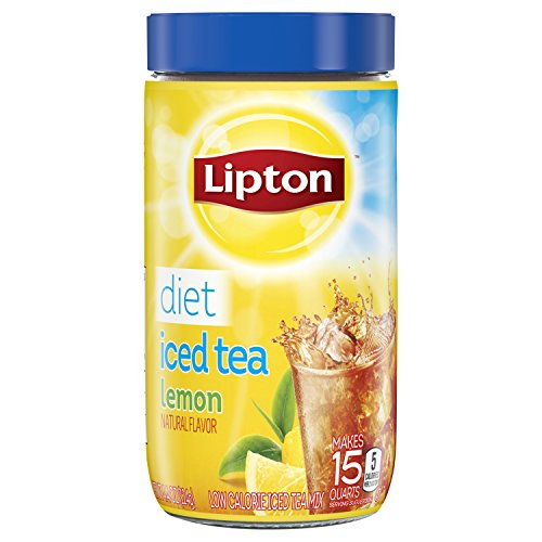 Lipton Black Iced Tea Mix Diet Lemon 15 qt, 4.4 oz. (Pack of 2)