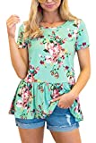 For G and PL Women Summer Ruffle Flare Swing Tunic Tops