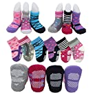 Pro1rise®6 Pairs Non-skid Baby Girl Toddler Anti Slip Shoe Socks for 12 - 24 Months