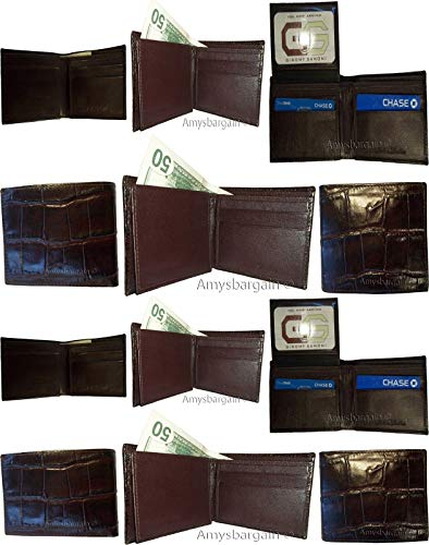 of Bifold 49 billfolds Lot 2 Wallet New Printed 12 Man's Skin Leather Crocodile qwv4Z1v