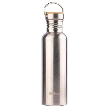 Amazon.com: Botella de agua de acero inoxidable WAKECUP, 750 ...
