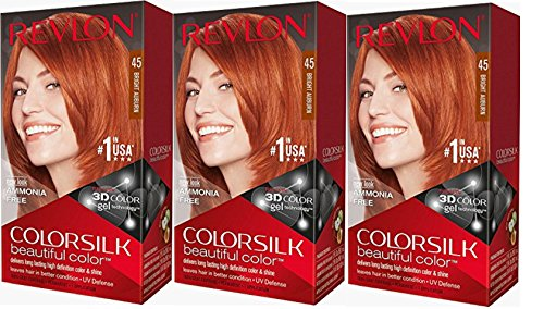 Revlon Colorsilk Beautiful Color, Bright Auburn, 3 Count