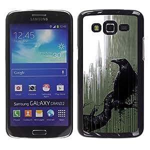 iKiki Tech / Estuche rígido - City Nyc Window Rain Art Black - Samsung Galaxy Grand 2 SM-G7102 SM-G7105
