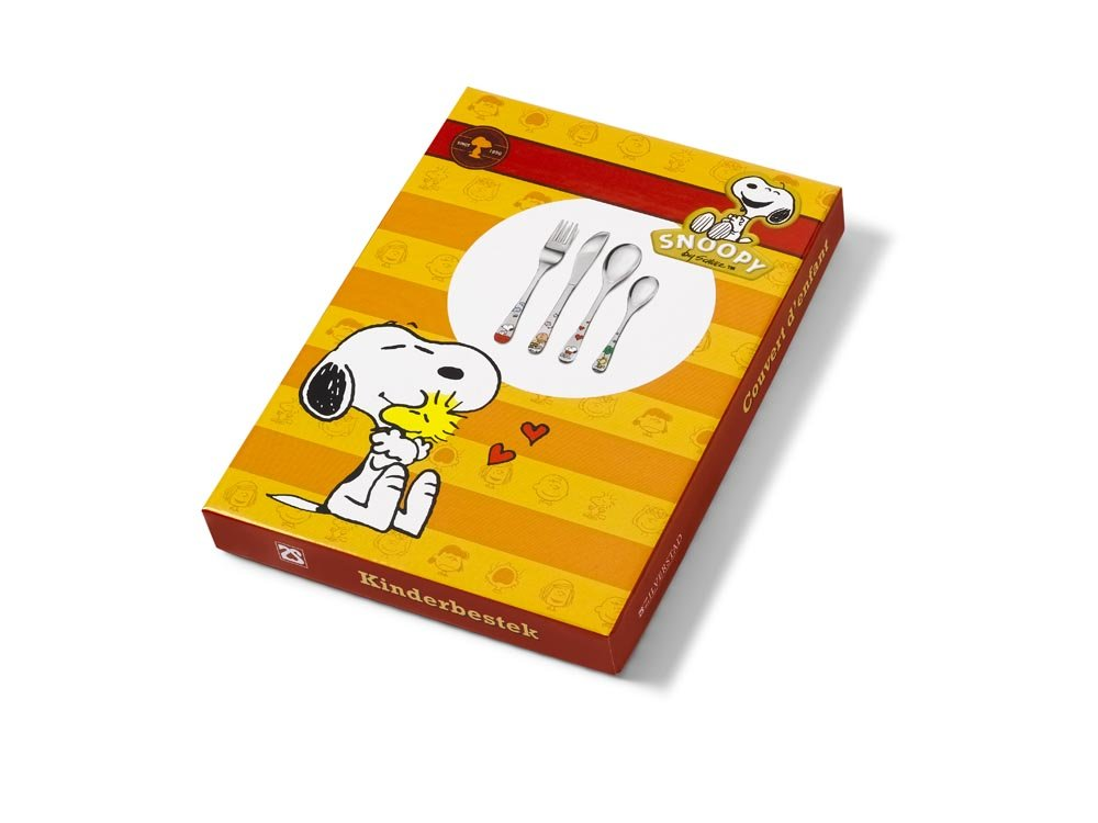 Unbekannt Zilverstad 6868030/Snoopy Service /à Couverts pour Enfant 4/pi/èces en Acier Inoxydable 18//10/Couleurs