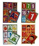Prodidac Jr Bingo Bundle: Alphabet, Numbers, Colors and Human Body