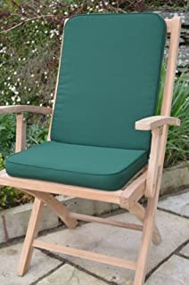 classic seat pad and back cushion for indoor outdoor garden chair pack of 2