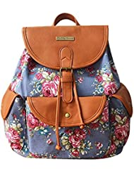 YOUR GALLERY Printed Sequins Lightweight Faux Leather Canvas Backpacks Travel School Drawstring Backpack for Women...