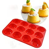 yorkshire pudding tray - Dolland 12 Cup Silicone Mold Muffin Pudding Mould Bakeware Round Cake Pan Baking Tray