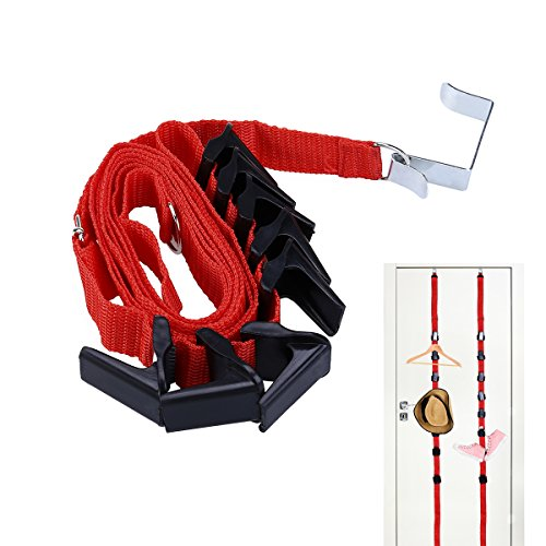Tinksky Adjustable Door Back Hook Hanger Hat Bag Rack Holder Clothes Organizer (Random (Bag Rack)