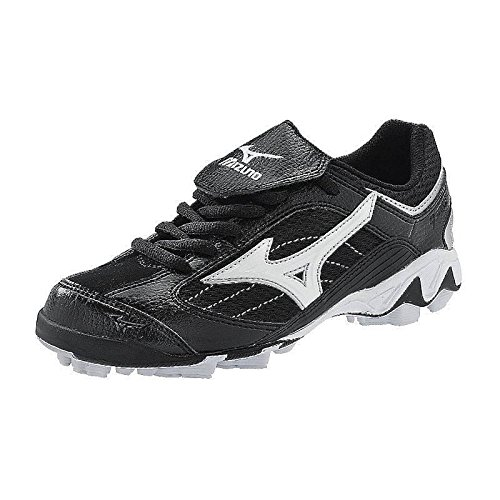 Mizuno 9-spike Youth Franchise Low G5 Black-white