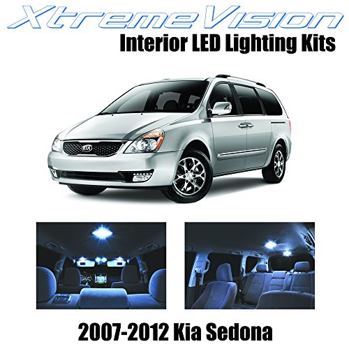 XtremeVision Interior LED for Kia Sedona 2007-2012 (11 Pieces) Cool White Interior LED Kit + Installation Tool
