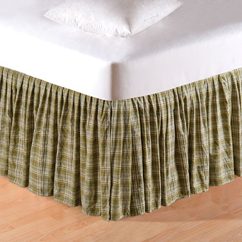 Plaid Dust Ruffle - 39X76+18