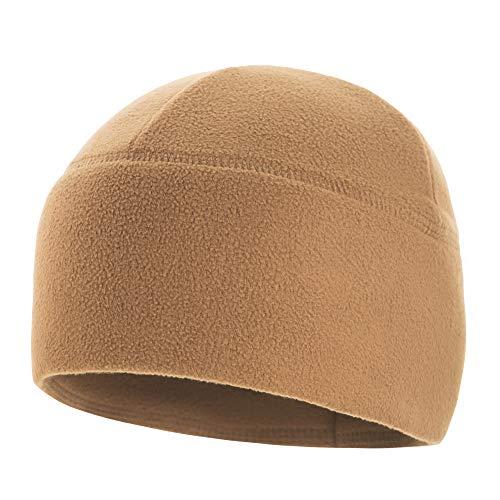 (M-Tac Watch Cap Fleece 340 Slimtex Elite Tactical Winter Hat (Coyote Brown, S))