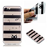 for iPhone 6 Plus / 6S Plus Cover Case, CrazyLemon Ultra Thin Transparent Soft TPU Silicone Gel Rubber Skin Clear Embossed 3D Pattern Design Scratch Resistant Shell Protective Cover Case for iPhone 6S Plus / 6 Plus 5.5 inch - Bar Cat