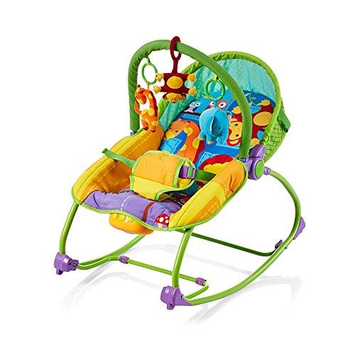 Chipolino CHIPSHER01403JU Musik Babywippe mit Vibration Relax Dschungel braun