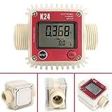 K24 Turbine Digital Diesel Oil Fuel Flow Meter Gauge For Chemicals Liquid Water