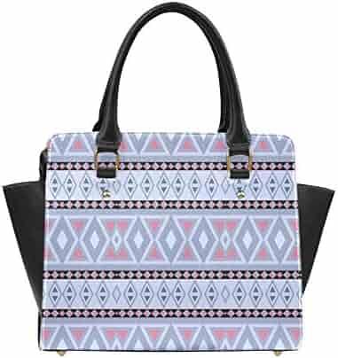aa31f3ee5f37 Interestprint Custom fancy tribal pattern LEO blue Classic Women Top  Handbag Shoulder Bag