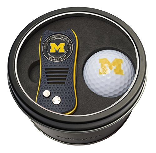 - Team Golf NCAA Michigan Wolverines Gift Set Switchblade Divot Tool with Double-Sided Magnetic Ball Marker & Golf Ball, Patented Single Prong Design, Less Damage to Greens, Switchblade Mechanism