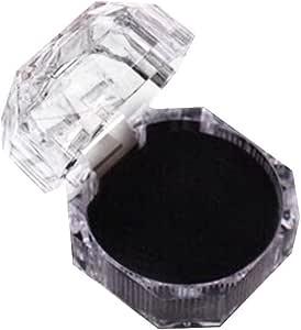 Emorias 1 Pcs Caja de Cristal Joyero Transparente Joyeria Soporte ...