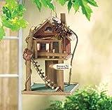 Gardirect Wooden Bird Treehouse Birdhouse Log Cabin Tree Gift Decor
