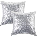 Amazoncom Silver Decorative Pillows Inserts Covers Bedding