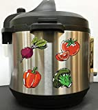 vegan crock - Watercolor Vegan Fresh Veggies - Full Color Vinyl Decal Sticker for Instant Pot Instapot Pressure Cooker