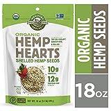 Manitoba Harvest Organic Hemp Hearts Raw Shelled Hemp Seeds, 18 Ounce