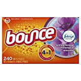 Health & Personal Care : Bounce Fabric Softener and Dryer Sheets, Spring & Renewal, 240 Count