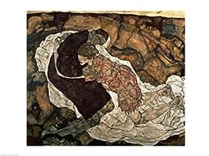Egon Schiele - La muerte y la doncella Artistica di Stampa