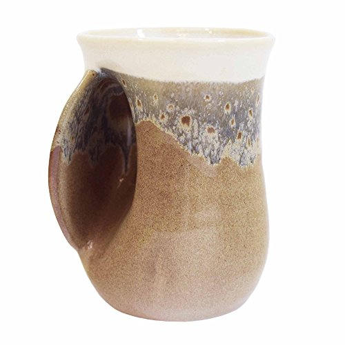 Clay in Motion Handwarmer Mug - Desert Sand - Left Handed (Ceramic Mug)