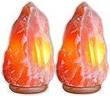 Himalayan Salt Lamp Natural Air Purifier Rock Crystal Tower 7 - 10 Lbs, 7-8 inch (Pack of 2)