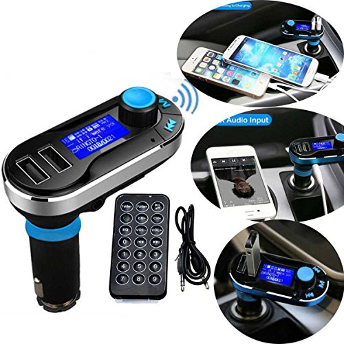 5in1 Wireless Bluetooth Car Music Player FM Transmitter Dual