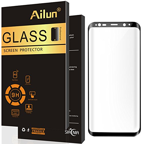 Galaxy S8 Screen Protector,by Ailun,Curved Edge Tempered Glass,Edge-to-Edge Full Coverage,for Samsung Galaxy S8 Only,Anti-Scratch Coating-Siania Retail Package[Not for S8+]