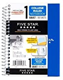 6 Pack Of Mead Five Star Personal Spiral Notebook, 7'' x 4 3/8'', 100 Sheets, College Rule, Assorted colors (MEA45484)