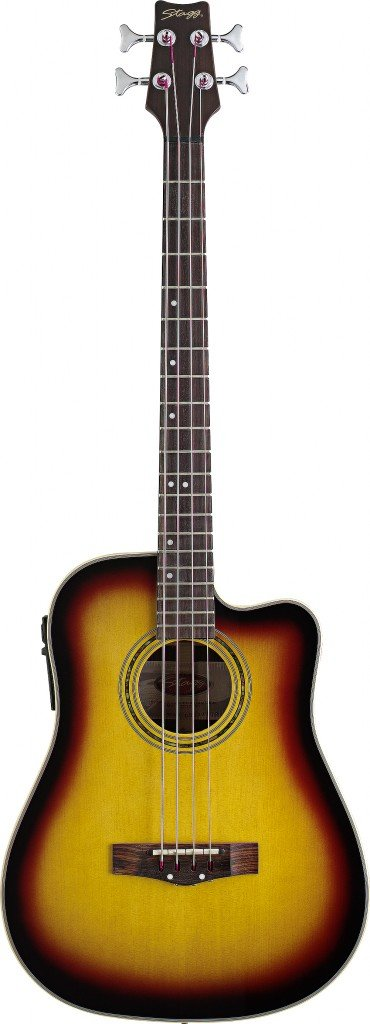 Stagg AB203CE-SB Electro-Acoustic Cutaway Bass Guitar