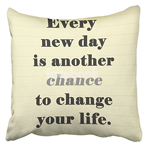 Emvency Decorative Throw Pillow Covers Cases Brown Motivation Inspirational Motivating Quote on Note Page Goal Achievement Positive Retro Words 20X20 Inches Pillowcases Case Cover Cushion Two Sided -