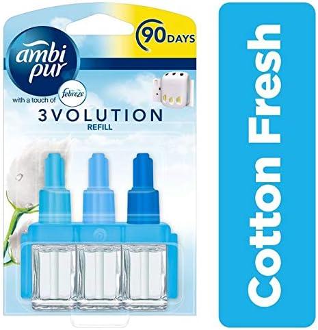 Ambi Pur 3 Volution plug-in, recambio ambientador fragancia de algodón fresco, 20 ml (Pack de 6): Amazon.es: Salud y cuidado personal