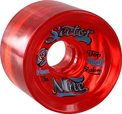 Sector 9 69mm 78a Top Shelf 9-Balls Red Wheels (Set Of 4)
