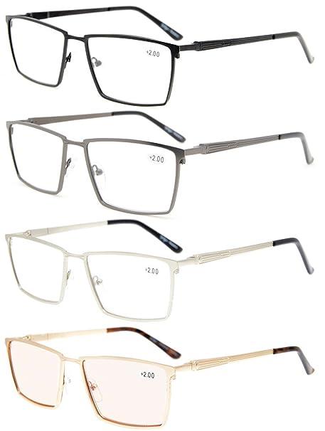 7659dc57df6 Image Unavailable. Eyekepper 4-Pack Mens Reading Glasses Spring Hinges ...