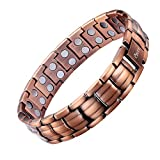 Product review for Ebuty Mens Copper Magnetic Bracelet Double Row with Velvet Gift Box and Free Link Removal Tool
