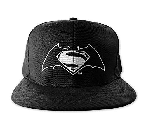 Logo Licencia Negro Con Snapback Batman Ajustable Vs Gorra Superman Tamaño Oficial Mercancía gROnx5
