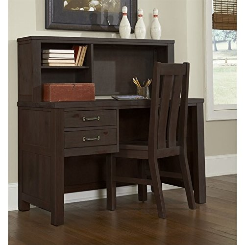 NE Kids Highlands Desk with Hutch in Espresso by NE Kids