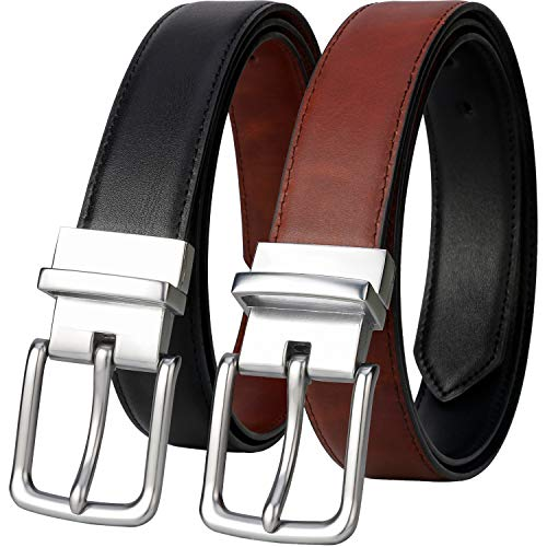 - Belts for Men - Lavemi Mens Reversible Italian Cowhide Leather Dress Belt,One Belt Reverse for 2 Colors(21855-2 120)