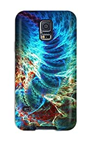 Fashion Tpu Case For Galaxy S5- Shapes Abstract Defender Case Cover