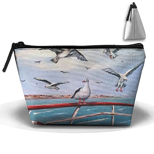 Makeup Bag Trapezoidal Storage Bag Seagull Cheryl Lifebuoy Portable Cosmetic Bag Ladies Mobile Travel Bag -