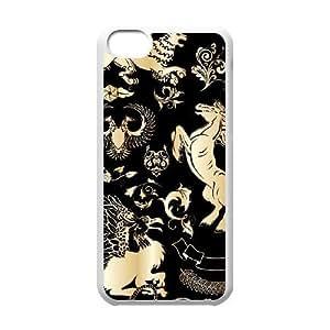 Gold Pattern ZLB566244 Unique Design Phone Case for Iphone 5C, Iphone 5C Case