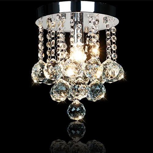 LightInTheBox 200mm Fashion Crystal Ceiling Lamp Luxury Pendant Chandelier Light, Modern Home Ceiling Light Fixture Flush Mount, Pendant Light Chandeliers Lighting