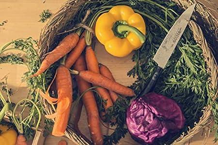 Arcos Serie Tango, Cuchillo para Verduras, Hoja de Acero Inoxidable Nitrum 120 mm, Mango de Polipropileno Color Negro