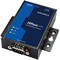 MOXA NPort 5110 - 1 Port Serial Device Server, 10/100 Ethernet, RS232, DB9 Male