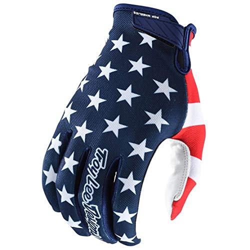 Troy Lee Designs Air Americana Men's Off-Road Mountain Bike Gloves - Navy/Red / Small (Best Downhill Mountain Bike Gloves)
